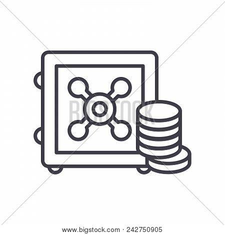 Reserve Fund Black Icon Concept. Reserve Fund Flat  Vector Website Sign, Symbol, Illustration.