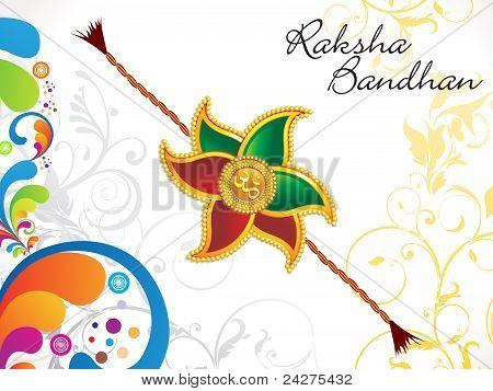 Abstract Raksha Bandhan Floral Background