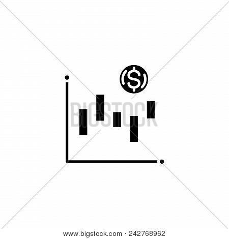 Technical Analysis Black Icon Concept. Technical Analysis Flat  Vector Website Sign, Symbol, Illustr