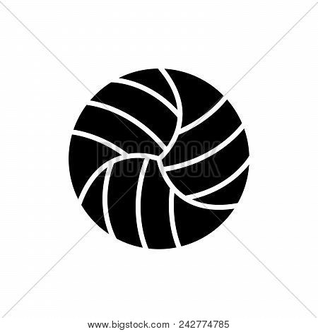 Volleyball Competitions Black Icon Concept. Volleyball Competitions Flat  Vector Website Sign, Symbo