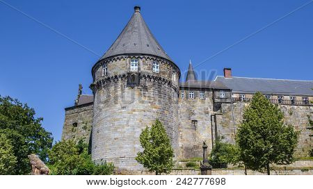 Batterieturm Tower In The Fortified Wall Of Bentheim Castle, Germany