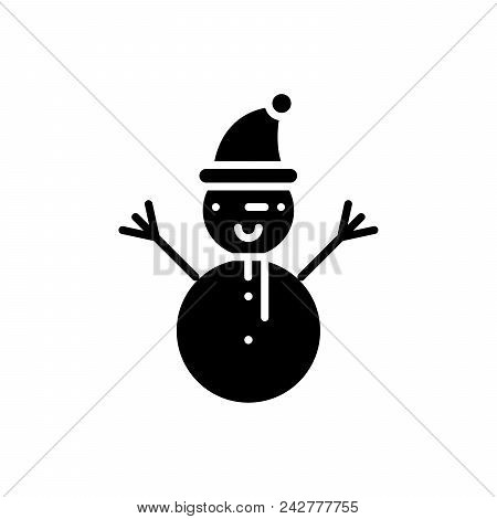 Winter Entertainments Black Icon Concept. Winter Entertainments Flat  Vector Website Sign, Symbol, I