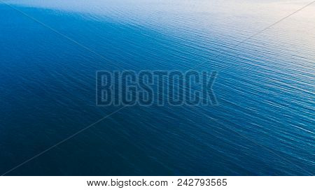 Drone View Of The Texture Of Water In The Sea