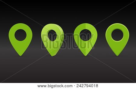 Map Marker Icon. Map Pin Vector. Map Markers.
