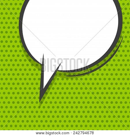 White Dialog Empty Cloud For Comic Text. Colored Announced Speech Balloon Comics Book Sketch Explosi