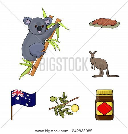 Country Australia Cartoon Icons In Set Collection For Design.travel And Attractions Vector Symbol St