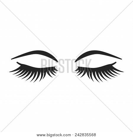 Lashes And Brows Icon Simple Vector Sign And Modern Symbol. Lashes And Brows Vector Icon Illustratio