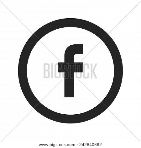F Social Media Logo Icon Simple Vector Sign And Modern Symbol. F Social Media Logo Vector Icon Illus