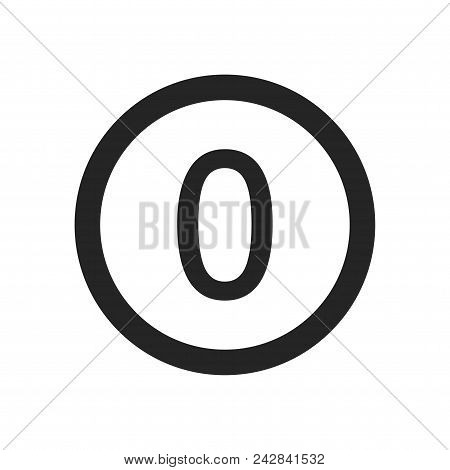 Number 0 Icon Simple Vector Sign And Modern Symbol. Number 0 Vector Icon Illustration, Editable Stro