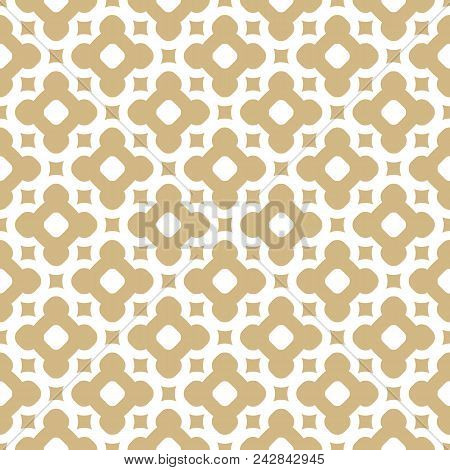 Vector Golden Ornament Pattern In Moroccan Style. White And Gold Elegant Floral Seamless Texture. Ab