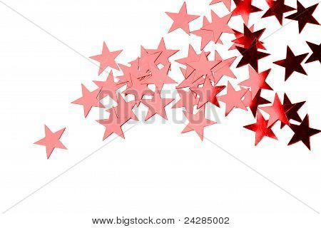 Holiday Red Stars Isolated On White Background