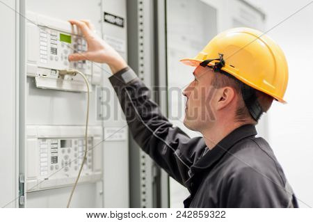 Engineer Commissioning Bay Control Unit. Engineering Department