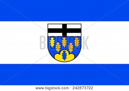 Flag Of Berg Is A Municipality In The District Of Ahrweiler, In Rhineland-palatinate, Germany. Vecto