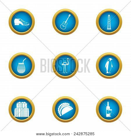 Parkland Icons Set. Flat Set Of 9 Parkland Vector Icons For Web Isolated On White Background