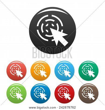 Cursor Interactive Icon. Simple Illustration Of Cursor Interactive Vector Icons Set Color Isolated O