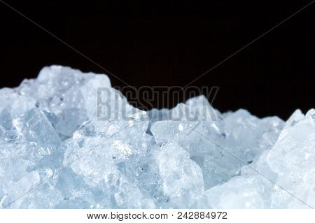 The Mineral Celestine. The Texture Of The Mineral. Macro Shooting Of Natural Gemstone. The Raw Miner
