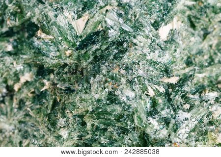 Mineral Diopside. The Texture Of The Mineral. Macro Shooting Of Natural Gemstone. The Raw Mineral. A