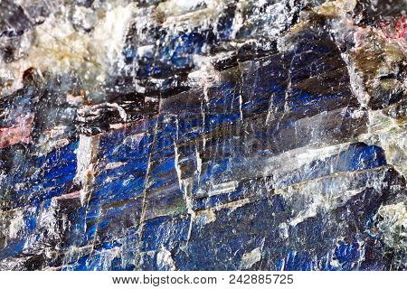 Mineral Labrador. The Texture Of The Mineral. Macro Shooting Of Natural Gemstone. The Raw Mineral. A