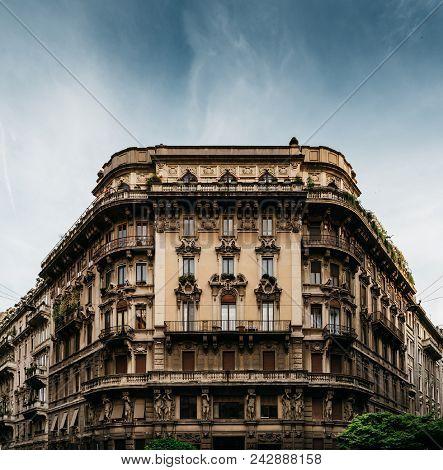 Impressive Art Nouveau Architecture At Piazza Eleonora Duse In Milan's Porta Venezia District, Lomba