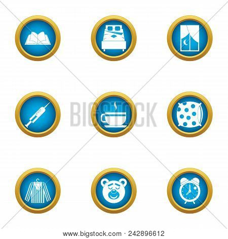 Pediatric Icons Set. Flat Set Of 9 Pediatric Vector Icons For Web Isolated On White Background