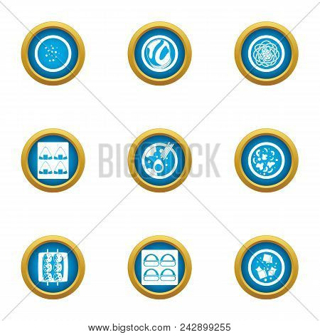 Matter Icons Set. Flat Set Of 9 Matter Vector Icons For Web Isolated On White Background