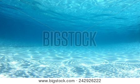 Underwater clear blue ocean background