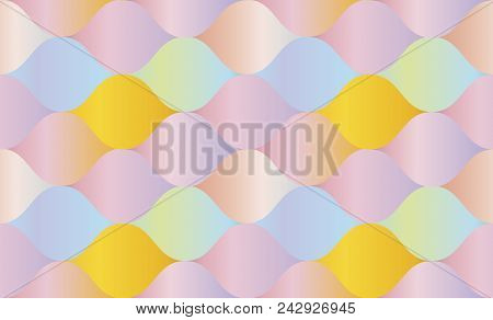 Pale Rose Color Gradient Concept Geometry Pattern. Seamless Pattern Vector Illustration For Backgrou