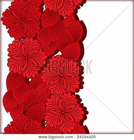 Vertical Floral Ornament