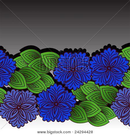 A Garland Of Blue Flowers