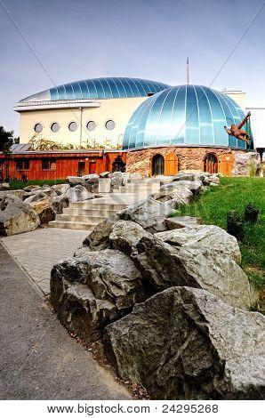 Pavilion monkey zoo in Bratislava