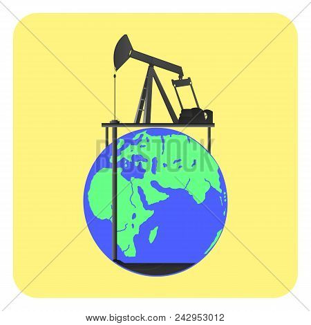 Reduction Of Oil Reserves On Planet Earth. Low Fuel Level. The High Price Of Fuel. Political, Econom