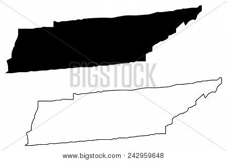 Tennessee Map Vector Illustration, Scribble Sketch Tennessee Map