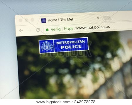 Amsterdam, Netherlands - May 28, 2018: Website Of The Metropolitan Police Service (mps) Or The Met,