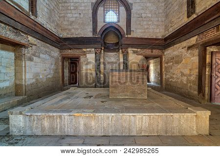 Cairo, Egypt - September 23, 2017: Interior Of Mausoleum Of Al-nasir Muhammad Ibn Qalawun, Al Muizz