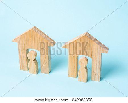 Two Neighbors. Good Neighborhood, District. Communication, Communication Between Two People And Hous