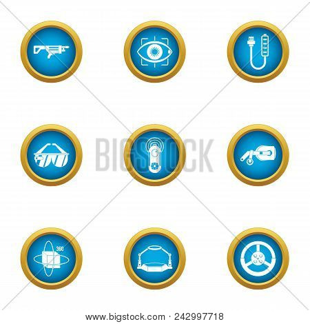 Technical Weapon Icons Set. Flat Set Of 9 Technical Weapon Vector Icons For Web Isolated On White Ba