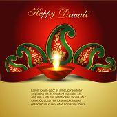 Artistic Indian diwali festival vector art poster