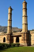 Champaner - Pavagadh Archaeological Park is a historical city in the state of Gujarat. Kevda Masjid mosque. (UNESCO).Inside the Sahar ki Masjid poster