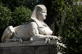 Sphinx in the park in Bad Langensalza (Thuringia Germany) poster