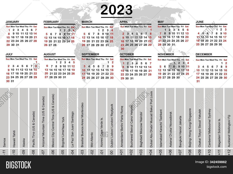 2023 2022 Calendar.2023 Calendar World Vector Photo Free Trial Bigstock