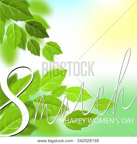 Vector International 8 March. 8 March In Beautiful Style On White Background. International Women Da