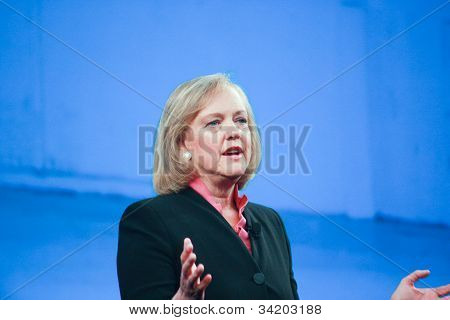 Las Vegas, Nv - June 5, 2012: Hp President And Chief Executive Officer Meg Whitman Delivers An Addre