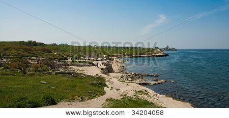 panorama of Chersonesus Taurica near Sevastopol in Crimea Ukraine poster