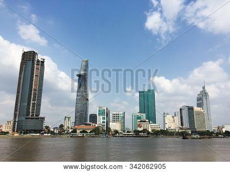 Saigon, Vietnam - Mar 7, 2015. Panorama View Of Saigon, Vietnam. Saigon Is The Largest City In Vietn