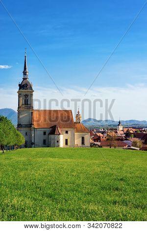 Saint Bartholomew Parish Church And Scenery Of Slovenska Bistrica Slovenia