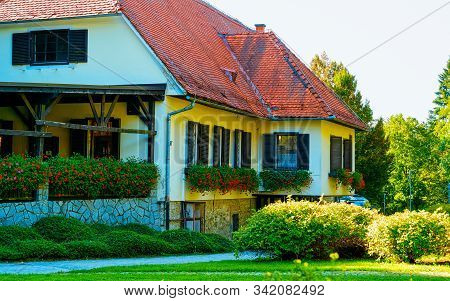 Residential House On Street Of Maribor In Slovenia Reflex
