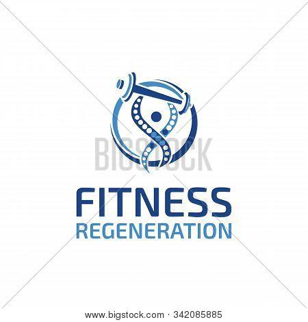 Fitness Regeneration Logo Design Vector Template Unique