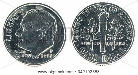 United States Coin. One Dime 2008 P. Usa.