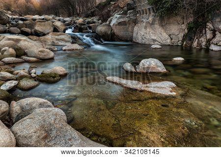Garganta Jaranda. Landscape Near Jarandilla De La Vera, Caceres. Extremadura. Spain.
