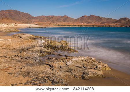 Los Genoveses Beach. San Jose. Natural Park Of Cabo De Gata. Spain.
